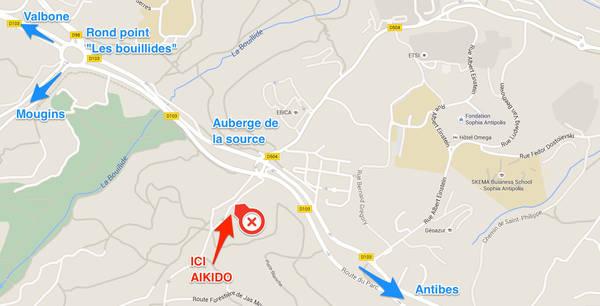 plan aikido-sophia-antipolis