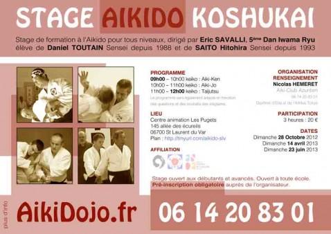 Stage Aikido St Laurent du Var 06