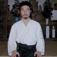 10/2001 - Nicolas Joliot à l'Aiki Dojo d'Iwama (photo: Eric Savalli)