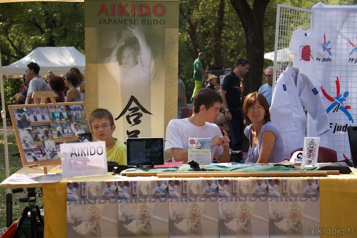 Stand Aikido Forum des assocations à Bar s/Loup