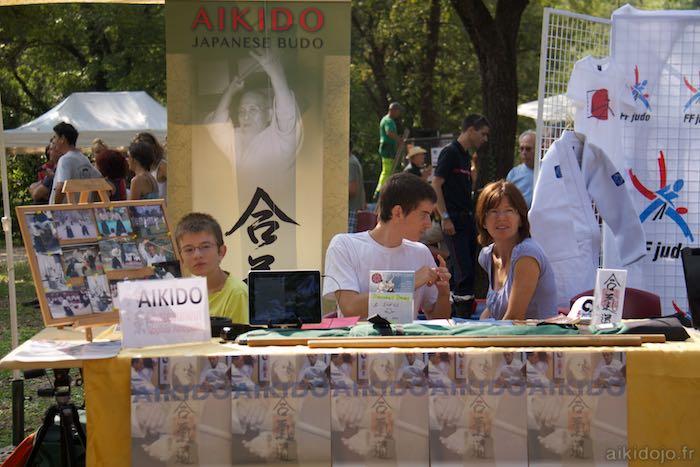 Stand Aikido Forum des assocations à Bar s/Loup