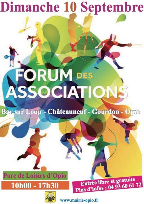 Forum des associations Bar s/ loup, chateauneuf, Gourdon, Opio