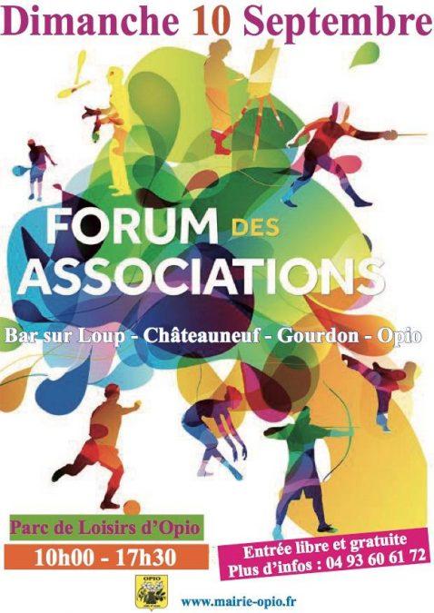 Forum des associations Bar s/ loup, chateauneuf, Gourdon, Opio