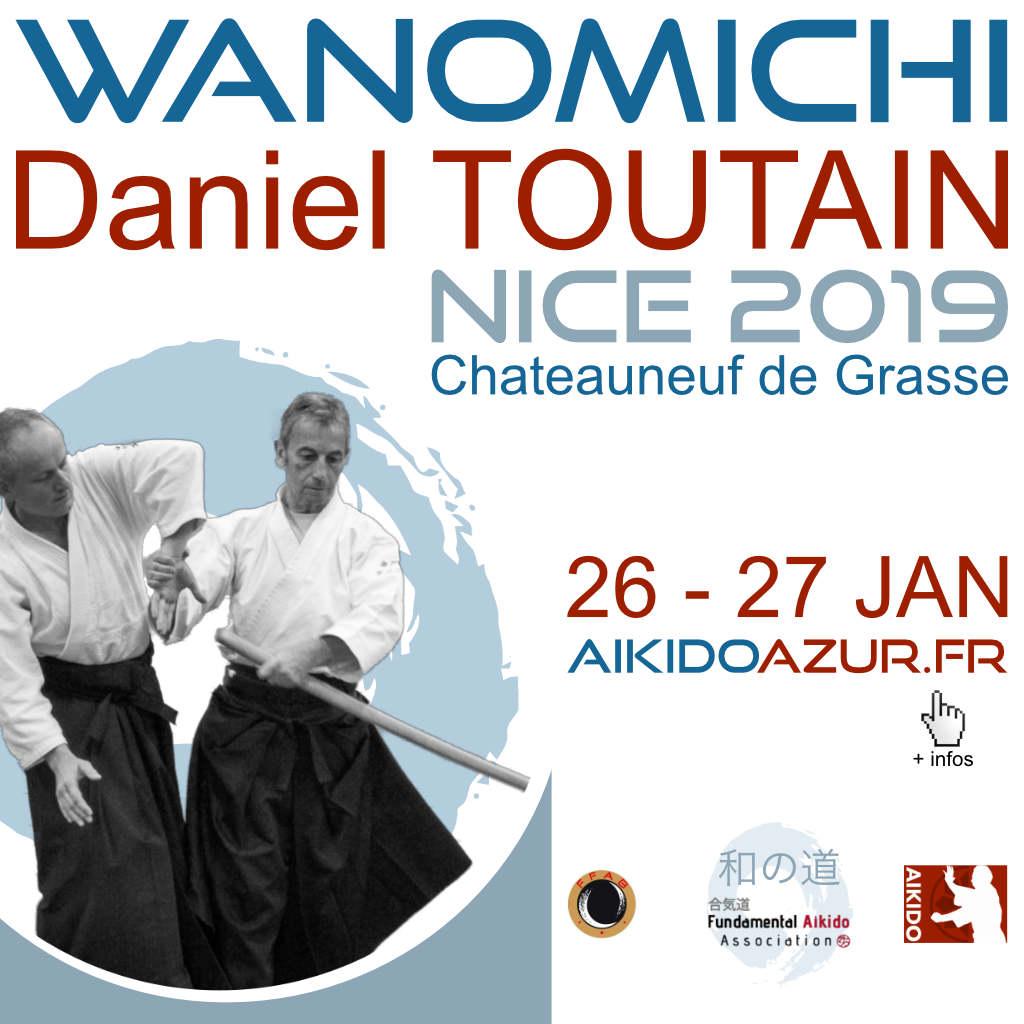 Aikido Wanomichi Seminar in Nice 2019 with Daniel Toutain