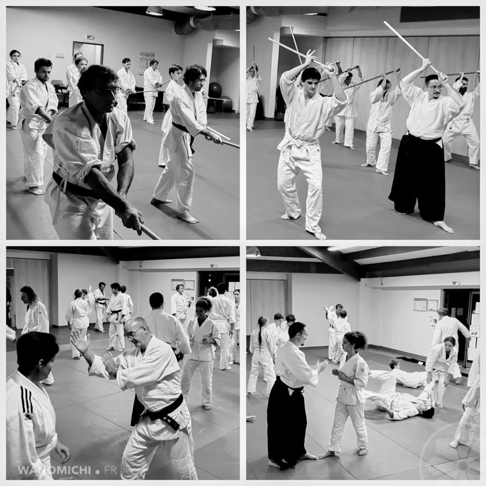 Cours d'aikido à Roquefort-les-pins