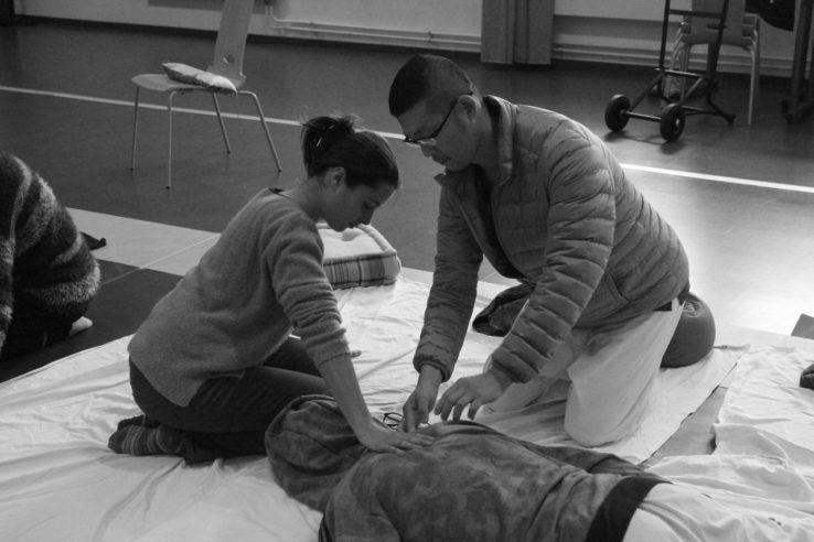 Workshop de Shiatsu à Ales 12/2018 - credit photo: MA-AI