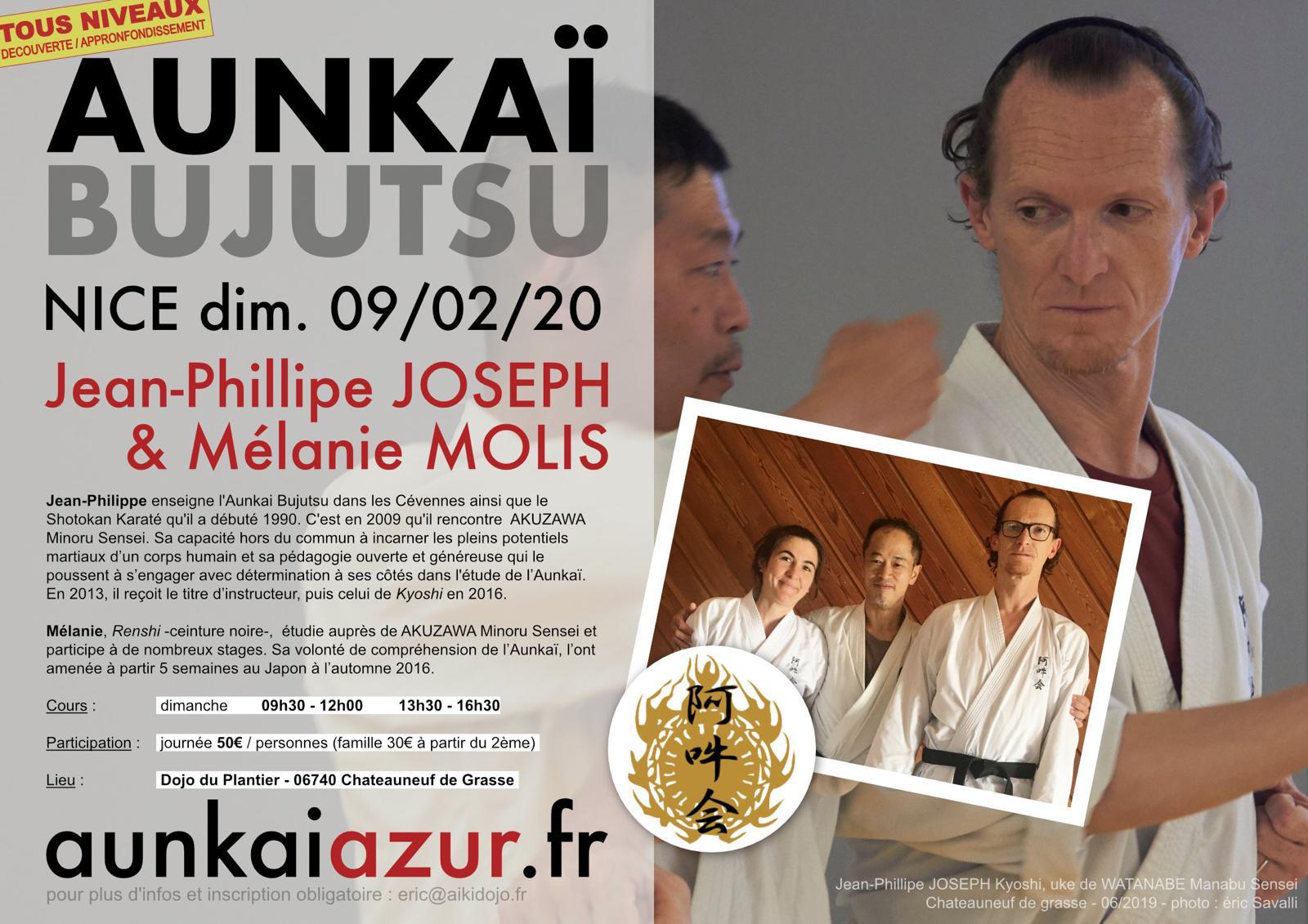 Stage Aunkai en region de Nice avec Jean-Philippe Joseph et Mélanie