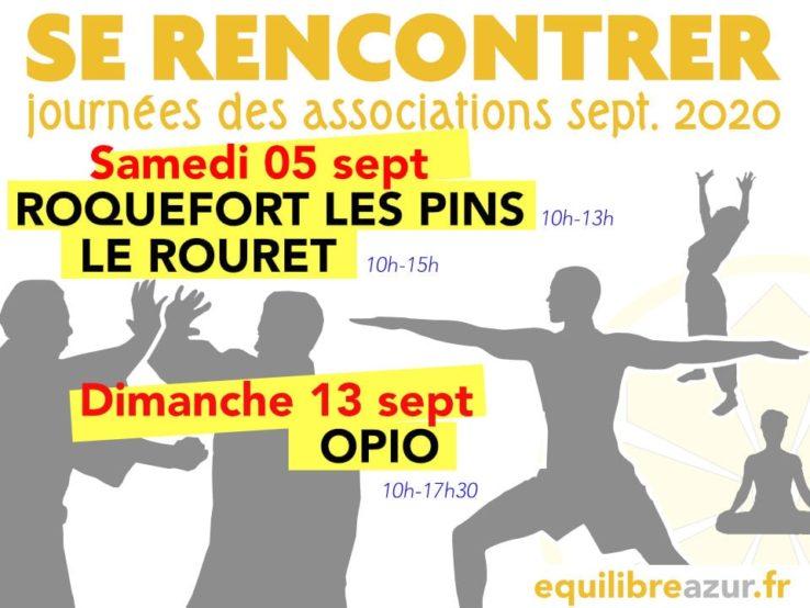 Rentrée 2020 - Infos sur la reprise des cours et forums des associations - Roquefort les pins, le rouret, opio, chateauneuf de Grasse
